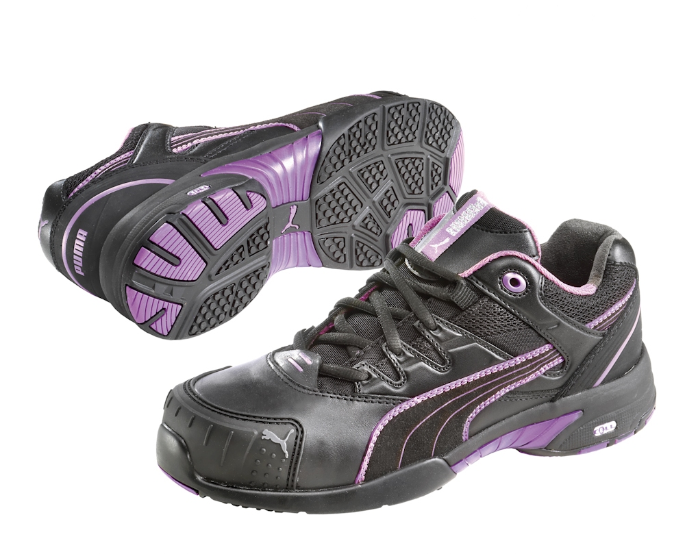 Werkschoenen Puma.Puma Safetyboots Stepper Wns Low Black Violet