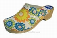 Holland Traditionals clogs 200 Yellow Flower