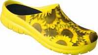 Jolly PU clogs open sunflower