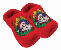 Woodenshoe Slippers Santa/Red decor
