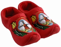 Woodenshoe Slippers Tulp/Windmill Red