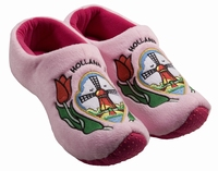Woodenshoe Slippers Tulp/Windmill Pink