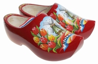Woodenshoes Holland Tulp Red