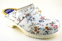 Oase PU clogs 568 White flower