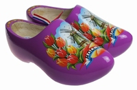 Woodenshoes Holland Tulp Purple