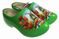 Woodenshoes Holland Tulp limegreen