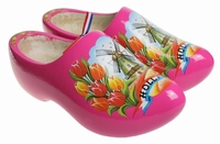 Woodenshoes Holland Tulp pink