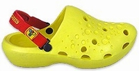 Sleazy cheesy Flex PU Woodenshoes Clogs yellow