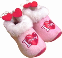 Woodenshoe Slippers babies pink