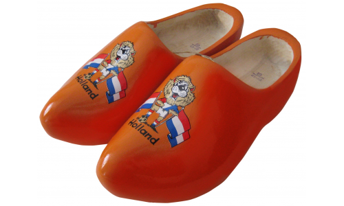 Woodenshoes Holland AB Oange Lion