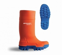 Dunlop wellington working boots thermo+ C662.343 orange