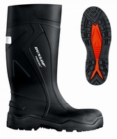 Dunlop wellington working boots purofort+ C762.041 black