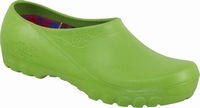 Jolly PU clogs closed Limegreen